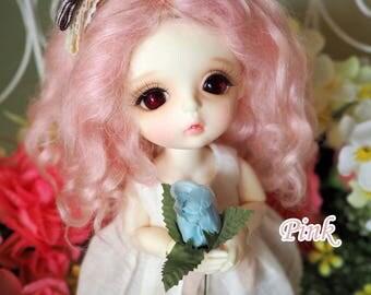 bjd doll girl wig L-M3 (4 colors) for lati yellow fl pukifee
