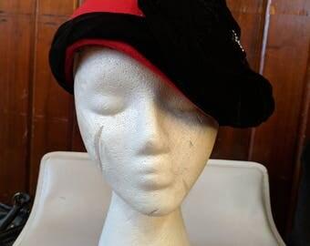 1950S // HAT BY CHARLES // Vintage Michael Howard Mr Charles 100% Wool Hat