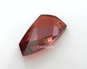 6620 RED MAGMA 30mm Swarovski Crystal Avant-Garde Pendant, Large Suncatcher Window Crystal