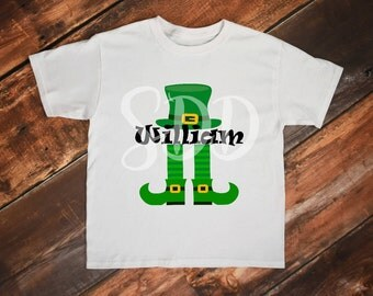 Boy St Patrick's day Shirt, Shamrock shirt, leprechaun shirt, St pattys day shirt, shamrock, custom shirt, name shirt