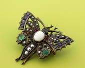 Georgian  Butterfly Brooch with gemstones