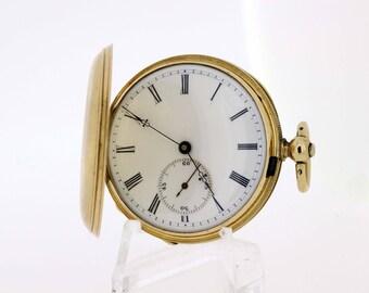 18K Yellow gold Ladies Key wind pocket watch