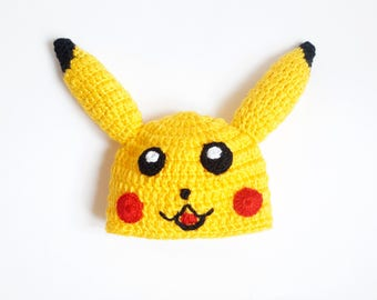 Pikachu Hat Wig - Halloween Baby Hat -Halloween / Cosplay / Baby Shower Gift