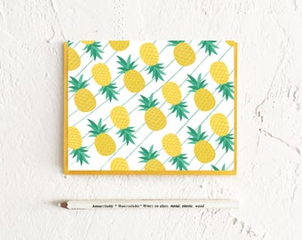 Pineapple Stationery, Boxed Set of Cards, Gift For Mom, Pattern Cards, Summer Stationery, Stationery Set, Thank You Cards, Note Card Set