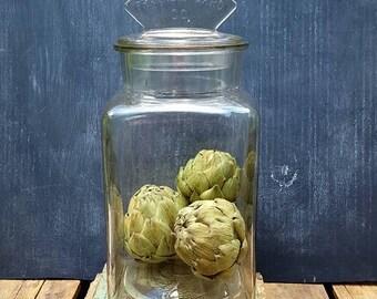 Antique General Store Glass Jar, 1914 Franklin-Caro Co