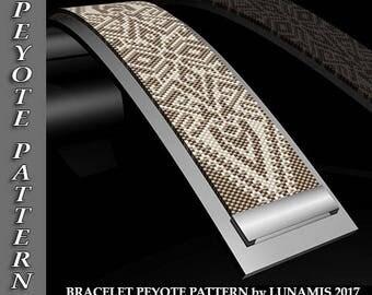 bracelet peyote pattern,  bracelet design, even count, stitch pattern, pdf file, pdf pattern, #097P