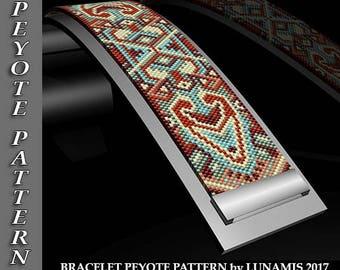 Peyote bracelet pattern, odd count, peyote pattern, stitch pattern, pdf file, pdf pattern, #126P