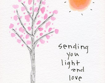 Sending You Light & Love Greeting Card