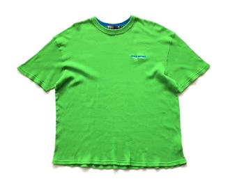 90s VTG POLO sport spell out t shirt Ralph Lauren spellout tee size XL ribbed cotton vintage
