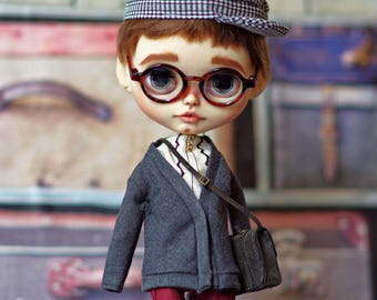 RUSKIN - Custom Blythe boy by SplattergirlUK - Lay away available