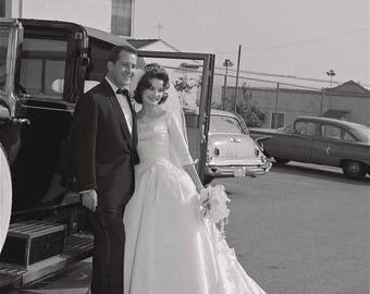 1960's Margie Peterson Wedding Gown l XS