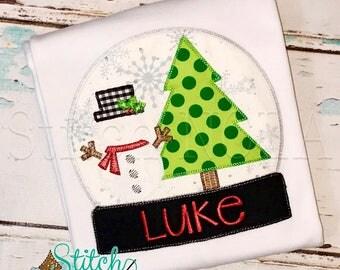 Mr Snow Globe Applique, Snow Globe Applique, Snow Globe, Christmas Applique, Snowman, Christmas Tree Applique, XMAS Shirt, Christmas