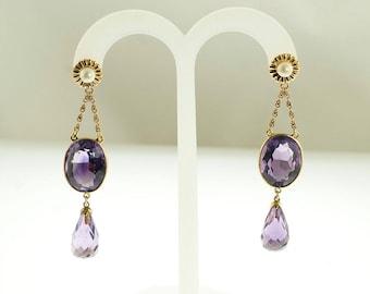 Victorian Amethyst Drop Earrings