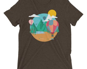 Hot Air Balloon Illustration Premium T-Shirt
