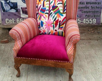 Otomi Chair Cowhide in the back - Custome Order