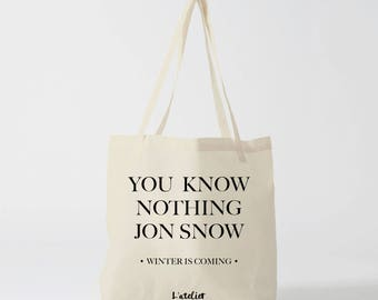 X477Y tote bag house stark winter is coming, game of thrones, cotton bag, tote bag, GOT series tv, bag, shopping bag quote, coworker