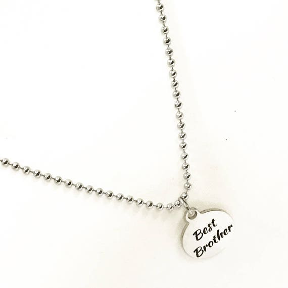 Brother Gift, Best Brother Necklace, Gift For Brother, Brother Jewelry, Gift From Sister, Best Brother Gifts, Gift From Little Brother