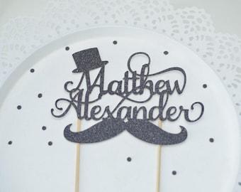Little man 1st birthday Cake Topper - Little Man Baby Shower ~ Cake Topper for first birthday ~ moustache  ~ mustache