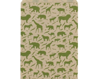 "100 - 6""x9"" Kraft Animal Flat Merchandise Gift Bags"