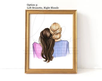 Lean on Me (Choose Your Hair Colors) Fashion Illustration