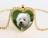 Gold West Highland Terrier Heart Pendant Necklace - Westie - Dog Breed - Women's Gifts -  Best Gift Ideas for Girls