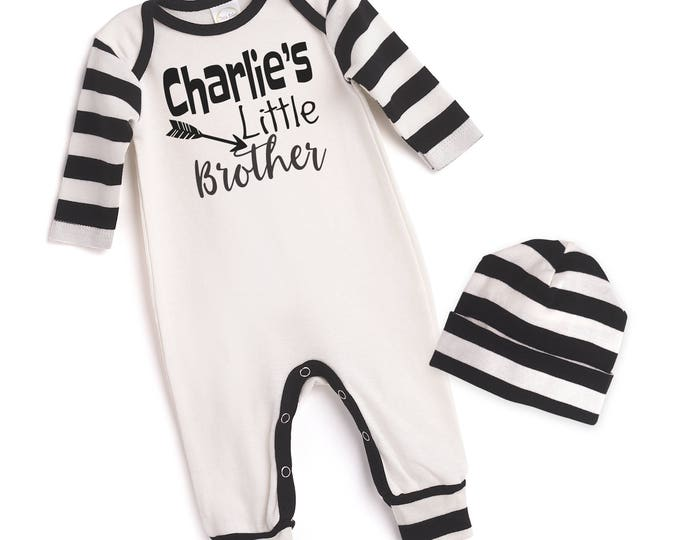 Personalized Newborn Boy Coming Home Outfit, Newborn Boy Outfit, Tesa Babe, Personalized Baby Outfit, Little Brother Romper, TesaBabe