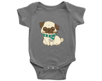 Pug Wizard Harry Potter Dog Baby Onesie, Dog Lover Baby Clothes, Infant Baby Boy, Baby Girl Bodysuit, Newborn Baby Shower Gift