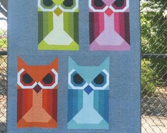 Allie Owl - Quilt Pattern by Elizabeth Hartman