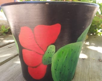 untitled terra cotta pot. not inteneded for plants. decorative only