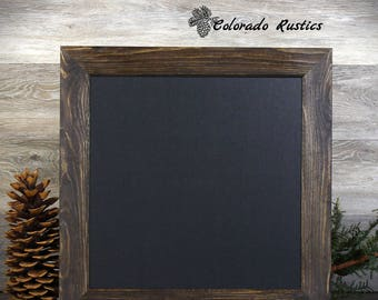 """Framed Chalkboard, Rustic Chalkboard, Kitchen Chalkboard, Distressed, Kitchen Décor, Cabin Decor, Office, 18""""x18"""""""