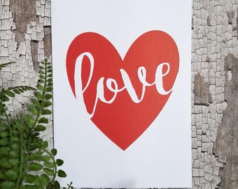 Papercut  Greeting Card >> HEART & LOVE << Valentine's Day/Love/Wedding/Anniversary/Bridal Shower/Engagement