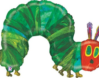 "43"" Very Hungry Caterpillar Balloon  / The Very Hungry Caterpillar Theme Party  / The very hungry caterpillar"