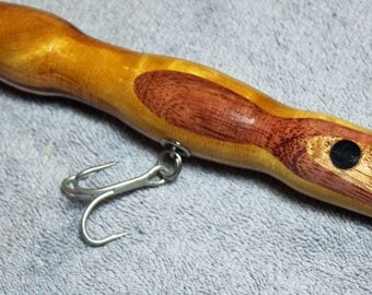 "Fishing Lure, Assorted Quality Hardwoods, 7"" and 2.9 oz  Black Eyed Lures, Free Shipping # L45"