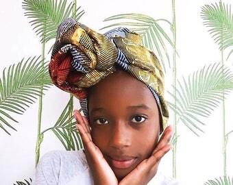 Turban Wax   African Headwrap   Ankara Print Headwrap   African Hair Wraps   Ankara Headscarf   Head Ties   African Headband   Print 28