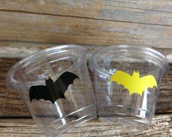 Superhero Party, Batman Inspired Party, Superhero Cups, Birthday Party