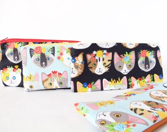 CAT Pouch. Cat Lover. Bachelorette Gift. Cat Lover Gift. Vet Tech Gift. Cute Vet Gift. Vet Bag. Cute Cat Lover Bag. Cat Pouch. Cat Stuff.