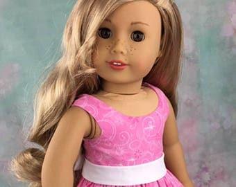 Elegant Spring Dress, handmade for 18 inch dolls such as American Girl