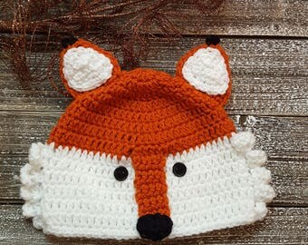 Felix Fox Hat / Crochet Fox Beanie / What does the fox say / Winter Beanie / Winter Hat / Kids Hat / Baby Beanie / Fox Beanie / Animal Hat