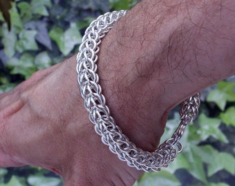 HUGE 45g Sterling Silver Full Persian 6 in 1  Chainmail Bracelet 925