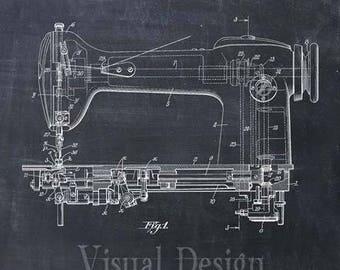 Sewing Machine Patent Print