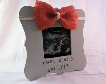 Aunt est 2018 established, Youre going to be an aunt baby announcement sister auntie gifts picture frame