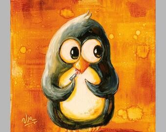 Lipstick - Super-Cute Penguin Print