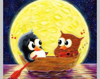 Super-Moon Serenade - Love and Friendship Print