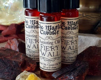 Fiery Wall Oil, Witchcraft, Wicca, Witch, Perfume Oil, Ritual Oil, Anointing Oil, Perfume, Apothecary, Dragons Blood