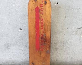 """Vintage Skateboard Hand Made """"Hot Shot Surfer"""" (9DH9LV)"""