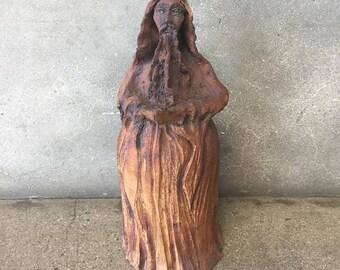 Mid Century Vintage Handmade Clay Sculpture (GFFZ28)