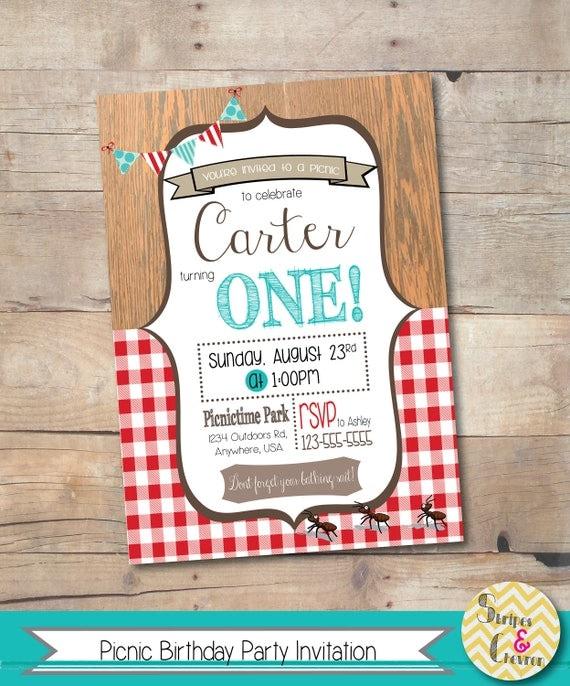 Picnic party invitation printable teddy bear picnic invite il570xn filmwisefo
