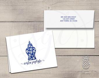 Ginger Jar Letterpress Foil Thank You Cards & Envelopes - Correspondence Cards - Custom Stationery Note Cards