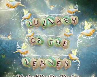 Digital Scrapbook - Lullaby Of The Leaves  {Alpha} PNG - Clip Art - Fantasy Themed - Digital Magical Alphabet - Photoshop Alphabet - Font