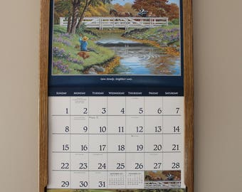 Wall Calendar Frame Front Loading Home Decor Framed Furniture